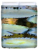 Water Lily Pads In The Morning Light Duvet Cover