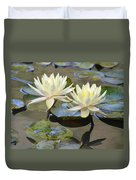 Water Lily Pair Duvet Cover