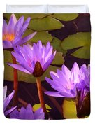 Water Lily Pond Duvet Cover
