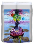 Water Lily Seeds Duvet Cover