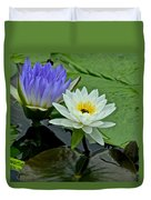 Water Lily Serenity Duvet Cover