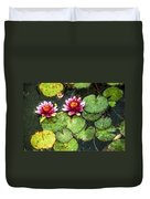 Water Lily Water Color Duvet Cover