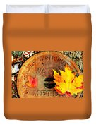 Water Meter Cover With Autumn Leaves Abstract Duvet Cover