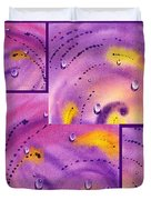 Water On Color Collage Five Duvet Cover