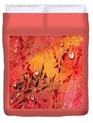 Water On Color Design Seven Duvet Cover