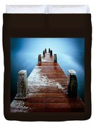 Water On The Jetty Duvet Cover