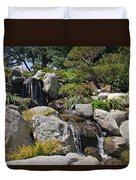 Water On The Rocks Duvet Cover
