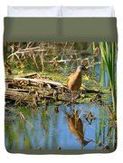Water Rail Reflection Duvet Cover