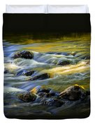 Beautiful Water Reflections On The Flowing Thornapple River Duvet Cover