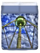Mary Leila Cotton Mill Water Tower Art  Duvet Cover
