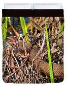 Water Snake In Hiding Duvet Cover