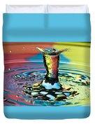 Water Splash Art Duvet Cover