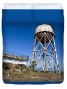 Water Tower Alcatraz Island Duvet Cover