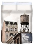 Water Towers 14 - New York City Duvet Cover