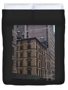 Water Towers Feed The Nyc Buildings Duvet Cover