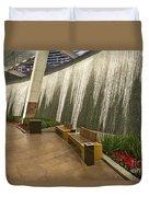 Water Wall - Aria Resort Las Vegas Duvet Cover