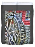 Water Wheel On Mill Duvet Cover