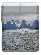 Water Worn Iceberg In Sea Ice Lazarev Duvet Cover