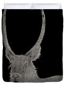 Waterbuck B W Abstract Duvet Cover