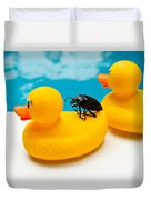 Waterbug Takes Yellow Taxi Duvet Cover