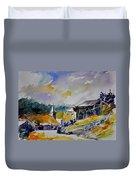 Watercolor Baillamont Duvet Cover