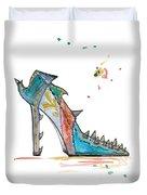 Watercolor Fashion Illustration Art Duvet Cover