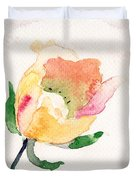 Watercolor Illustration With Beautiful Flower  Duvet Cover