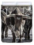 Watercolor Longhorns Duvet Cover
