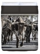 Watercolor Longhorns Duvet Cover