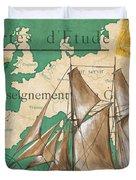 Watercolor Map 1 Duvet Cover