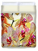 Watercolor Orchid Shadows Duvet Cover