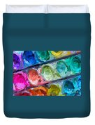 Watercolor Ovals Two Duvet Cover