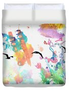 Watercolor Seagulls Duvet Cover