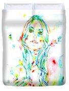 Watercolor Woman.1 Duvet Cover