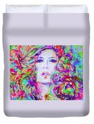 Watercolor Woman.32 Duvet Cover