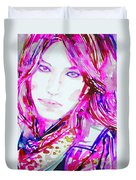 Watercolor Woman.33 Duvet Cover
