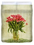 Watercolour Tulips Duvet Cover by John Edwards
