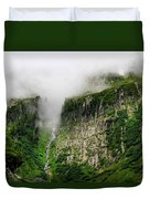 Waterfall And Clouds Duvet Cover