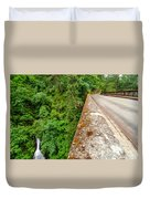 Waterfall And Old Road Duvet Cover