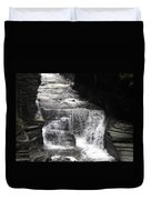 Waterfall And Rocks Duvet Cover