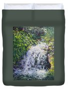 Waterfall At Chicago Botanic Gardens Duvet Cover