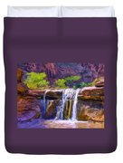 Waterfall At Coyote Creek Duvet Cover
