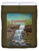 Waterfall At East Hampton Duvet Cover