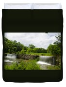 Waterfall At Valley Creek Near Valley Forge Duvet Cover