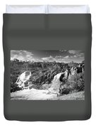 Waterfall Black And White Duvet Cover