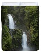 Waterfall, Chile Duvet Cover