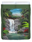 Waterfall Fantasy Duvet Cover