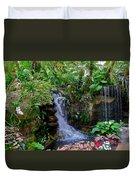 Waterfall Garden Duvet Cover