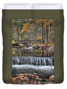 Waterfall - George Childs State Park Duvet Cover