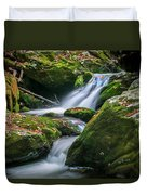 Waterfall Great Smoky Mountains  Duvet Cover
